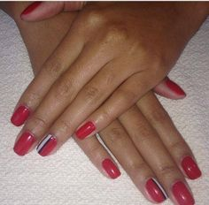 Red stripe inspired #ManiMonday at  #RedDoorSpa.