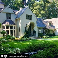 It is so satisfying to watch a landscape mature around a home. Thanks to @dooleycustomhomes for posting such a lovely image of one of my…