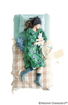 Fashion collection[ファッションコレクション] シロップ. 森で暮らすムーミンのプチプチパジャマ(レディース)の会(3回限定コレクション) フェリシモ