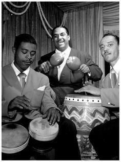 Machito, Jose Mangual, and Carlos Vidal(?), Glen Island Casino, New York, N.Y., ca. July 1947