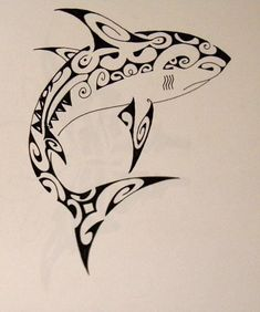 Maori shark A c*py of maori tattoo
