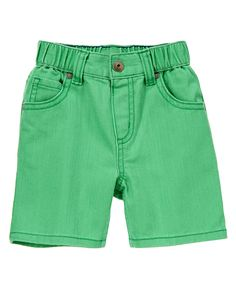 Colored Denim Shorts at Gymboree (Gymboree 3m-5T)