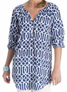 Navy Blue Lattice Tunic - $46.99 : FashionCupcake, Designer Clothing, Accessories, and Gifts