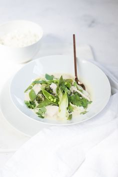 Grünes Thai Curry mit Hühnchen.    Thai green chicken curry.     seelenschmeichelei.de