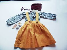 Party dress age 3 girls dress vintage bono by thelittleclothshop