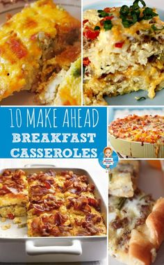 10 Make Ahead Breakfast Recipes and a pin-it party