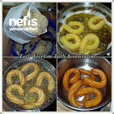 HALKA TATLISI I make the ring dessert every year in our bakery, believe it when fresh fresh is made, it Turkish Recipes, Greek Recipes, Italian Recipes, Dessert Drinks, Dessert Recipes, Cake Recipes, Turkish Sweets, Greek Cooking, Recipe Mix
