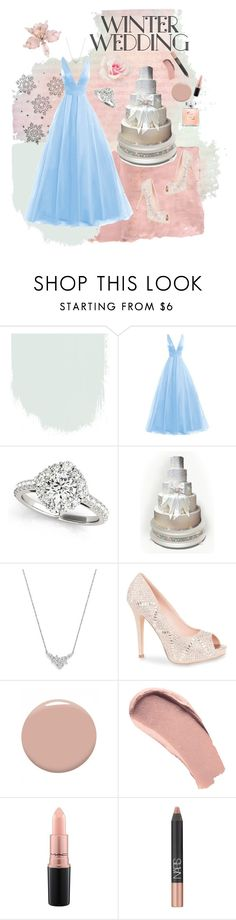 """""""Winter wedding"""" by elise-gehrke ❤ liked on Polyvore featuring Rothko, Bloomingdale's, Lauren Lorraine, Christian Louboutin, Burberry, MAC Cosmetics and NARS Cosmetics"""