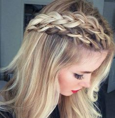 This is pretty cool...it looks like the three French braids are blended in