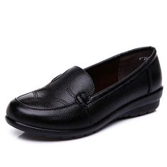 YAERNI Women shoes Spring soft soled mother black single shoes leather non-slip casual comfortable middle-aged ladies flat shoes(China) Black Singles, Spring Shoes, Leather Flats, Black Leather, Loafers For Women, Black Shoes, Women's Shoes, Womens Flats, Comfortable Shoes