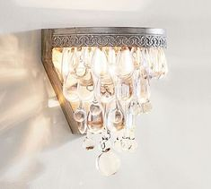clarissa glass drop sconce set of 2 antique silver finish glass wall lightsglass