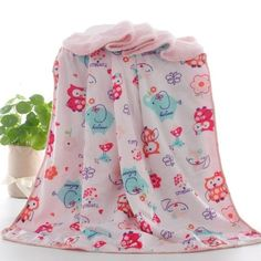 Baby Blankets, Thicken Double Layer Coral Fleece Infant Swaddle