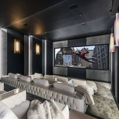 521 N Canon Dr, Beverly Hills, CA is a luxury real estate listing for Sale by Mansion Global. Home Theater Room Design, Home Theatre, Movie Theater Rooms, Home Cinema Room, Dream Home Design, My Dream Home, Home Cinemas, Luxury Homes, New Homes