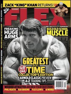 Flex Magazine cover March 2012 featuring Arnold Schwarzenegger #fitness #bodybuilding #exercise