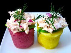 This Peruvian potato salad, or Causa, is a light, cool, and spicy dish, perfect as an appetizer on a hot summer day.