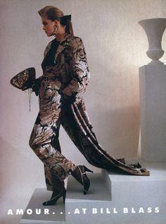 """A Different of Glamour… at Bill Blass"" - Vogue US September 1985"