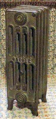 Antique cast iron salesman s sample radiator by