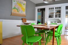 Bright, cheerful, whimsical and fun, these rooms from our House Tours manage to be stylish, modern and happy. To create a space that makes you happy to be in, don't be shy. Show off the things that make you smile. Whether it means keeping your favorite pair of shoes where everyone can see them or painting your nightstand an eye opening shade of electric orange, the pieces that make up your home should make you feel good.