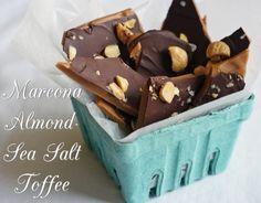 Marcona Almond Sea Salt Toffee from @bridget Bake at 350