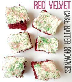 Red Velvet Cake Batter Brownies