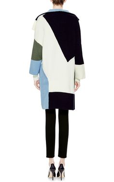Ribbed Wool Knit Coat by PRABAL GURUNG Now Available on Moda Operandi