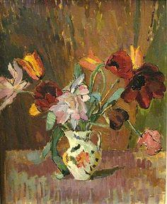 Duncan Grant, Tulips on ArtStack #duncan-grant #art