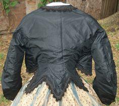 Civil War Era Zouave Jacket C 1860 | eBay seller sadira33610; silk taffetamodified pagoda sleeves, covered buttons, flat braid and looped braid trim.