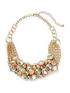 Cluster gold necklace - perfect holiday accessory. Jingle All the Way! #dotsPintoWin