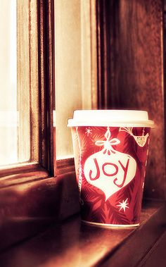 Eggnog lattes - wish Starbucks had them all year long. Oh, yes, and I love the word, joy. I even named one of our daughters Joy.