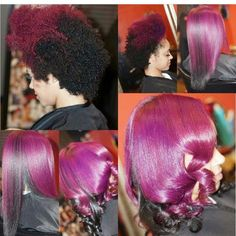 Purple, Black And Gorgeous - http://community.blackhairinformation.com/hairstyle-gallery/natural-hairstyles/purple-black-gorgeous/