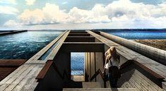 Luxus Residenz aus Beton an der Küste - fresHouse