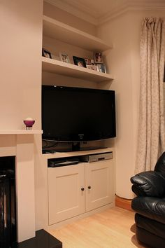 Image result for tv on wall victorian terrace