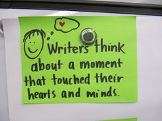 writing about Small Moments