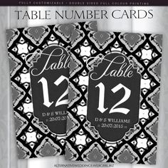 1000 images about table number cards products on for Table 52 number