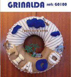 Handmade wreath REf: G0100 www.facebook.com/pecas.diferentes