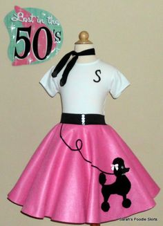Gorgeous Girls 3pc Patty Poodle Skirt Outfit Your Choice Of Size And Color SM