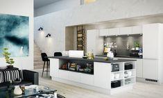 Innred kjøkkenet med en kjøkkenøy eller kokeøy | HTH