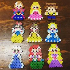Disney Princess perler beads by kaijyuushibata