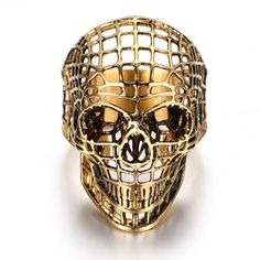"Narcando Canada 18k Gold Hollow Skull Mens Ring New Items In Stock!     Get 10% off any item at Narcando Canada using promo code ""Newbie""    Womens Clothing, Mens Clothing, Jewelry & Gaming Accessories!     #HipHop #Gold #Jewelry #Shopping #Narcando #Fashion #Clothing #Canada"