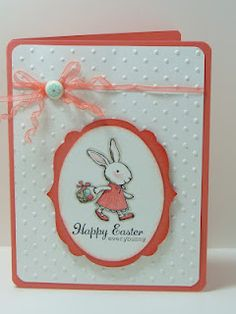 Isn't this so cute. Chris Galbraith did an excellent job n it. Love the use of Calypso Coral and White!