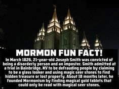 mormonism, the imposter joseph smith and the magical seer stone | fun fact | #atheism