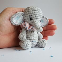 Bella the little elephant amigurumi pattern by Amalou Designs