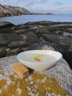Fish soup served at Ryvingen lighthouse outside Mandal, Norway  Photo: Visit Sørlandet
