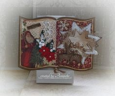 made for AnMa Creatief, with DutchDoobadoo Shape Art Card Book, I Card, Christmas Books, Christmas Time, Crafts To Make, Diy Crafts, Crafters Companion Cards, Shape Art, Easel Cards
