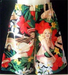 "Toddler Boys Spunky ""Aloha Girls"" long leg shorts by SimplyDollicious on Etsy"