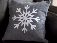 Silhouette Blog: snowflake pillow