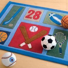 Athletic Club Sports Area Rug - Kids Decorating Ideas