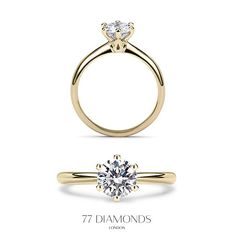 The classic Allure engagement ring in yellow gold set with a 1ct round diamond. #proposal #solitaire