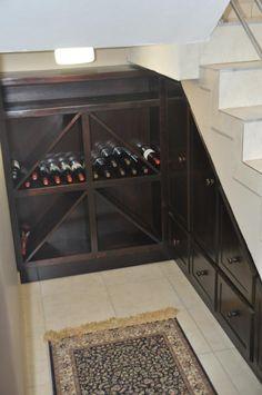 storage and organization , wine cellar under stairs : small wine