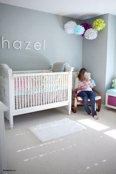 Decorar con pompones una habitación infantil
